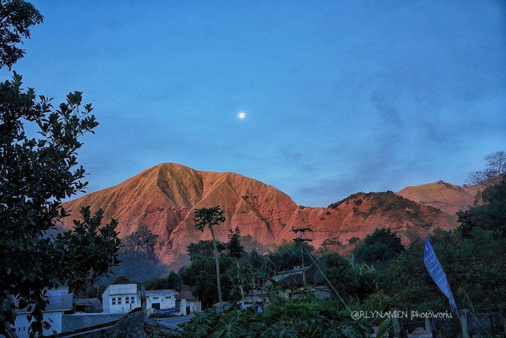 View dari homestay di waktu senja